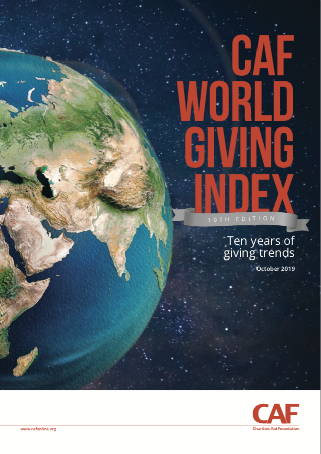 CAF World Giving Inedx 2019 cover